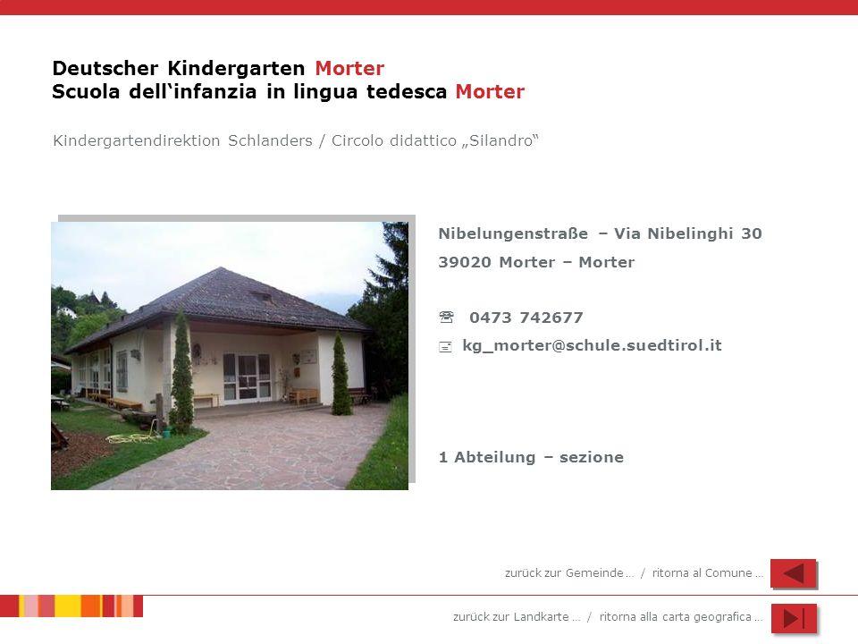 Deutscher Kindergarten Morter Scuola dell'infanzia in lingua tedesca Morter