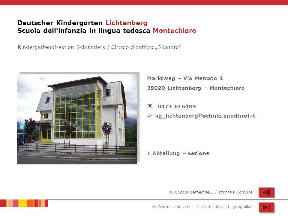 Deutscher Kindergarten Lichtenberg Scuola dell'infanzia in lingua tedesca Montechiaro