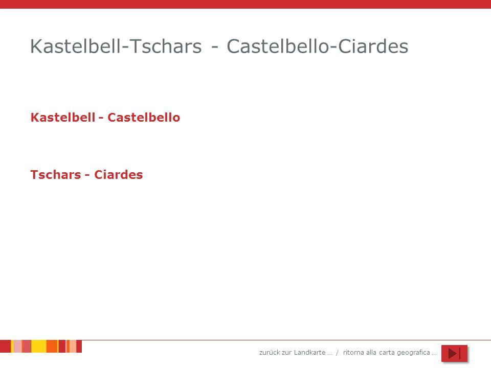 Kastelbell-Tschars - Castelbello-Ciardes