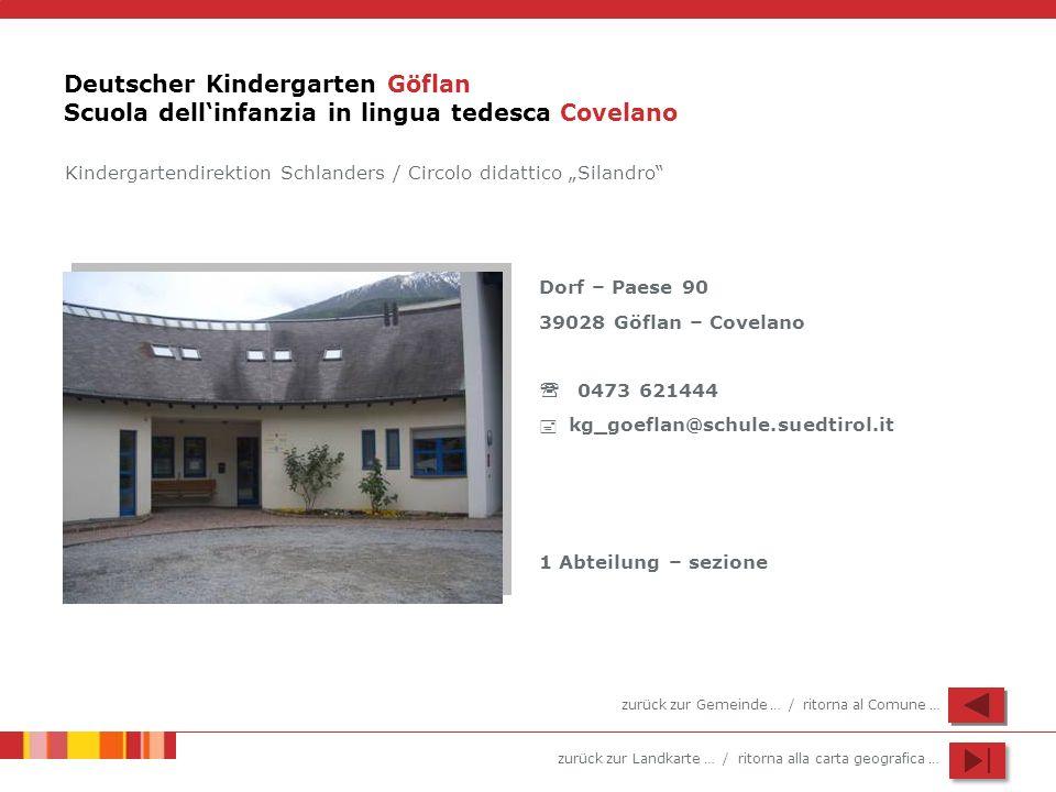 Deutscher Kindergarten Göflan Scuola dell'infanzia in lingua tedesca Covelano