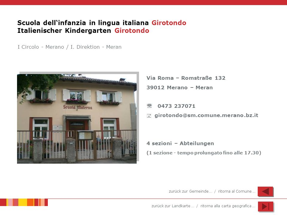 Scuola dell'infanzia in lingua italiana Girotondo Italienischer Kindergarten Girotondo