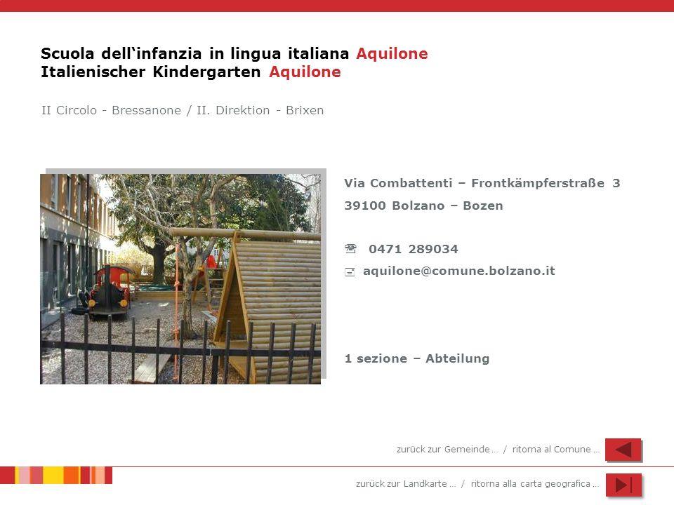 Scuola dell'infanzia in lingua italiana Aquilone Italienischer Kindergarten Aquilone