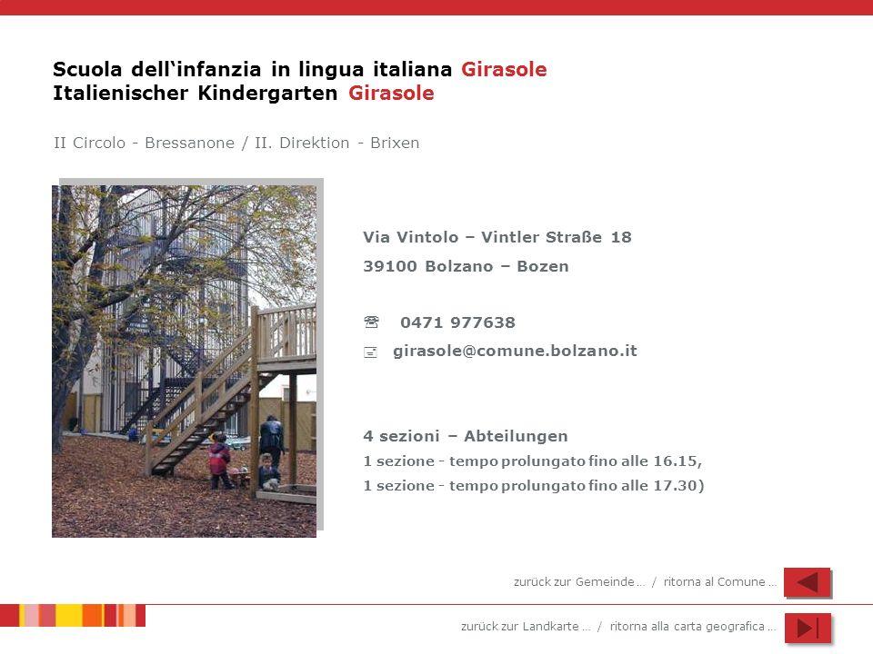 Scuola dell'infanzia in lingua italiana Girasole Italienischer Kindergarten Girasole