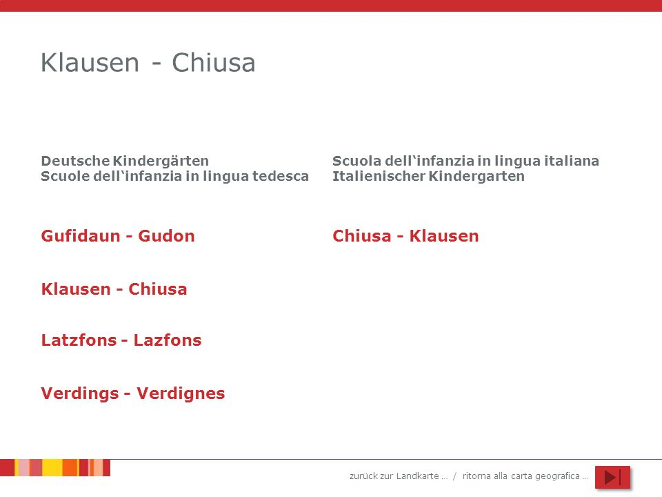 Klausen - Chiusa Gufidaun - Gudon Chiusa - Klausen Klausen - Chiusa