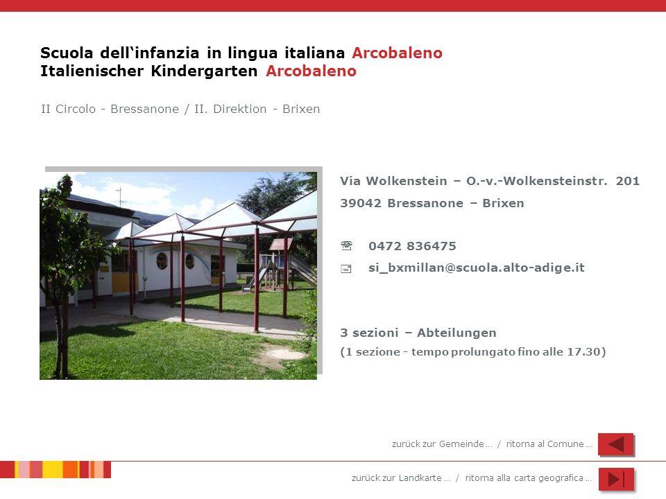 Scuola dell'infanzia in lingua italiana Arcobaleno Italienischer Kindergarten Arcobaleno