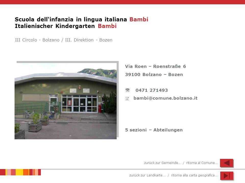 Scuola dell'infanzia in lingua italiana Bambi Italienischer Kindergarten Bambi