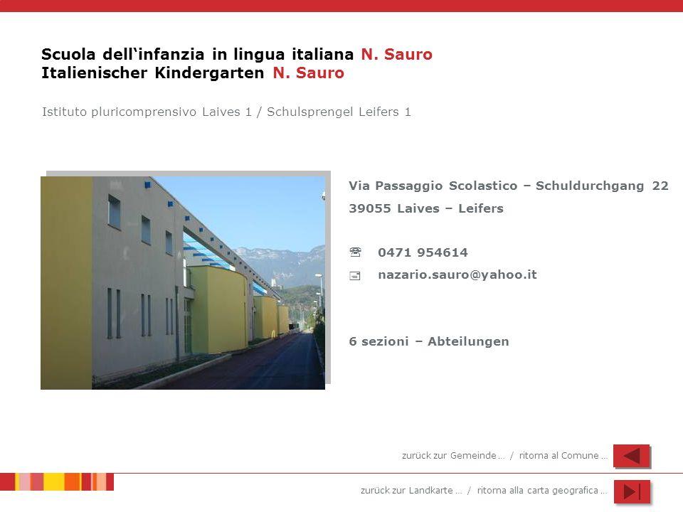 Scuola dell'infanzia in lingua italiana N