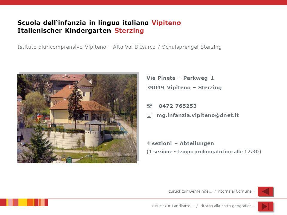 Scuola dell'infanzia in lingua italiana Vipiteno Italienischer Kindergarten Sterzing