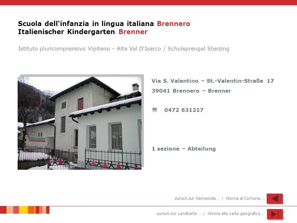 Scuola dell'infanzia in lingua italiana Brennero Italienischer Kindergarten Brenner