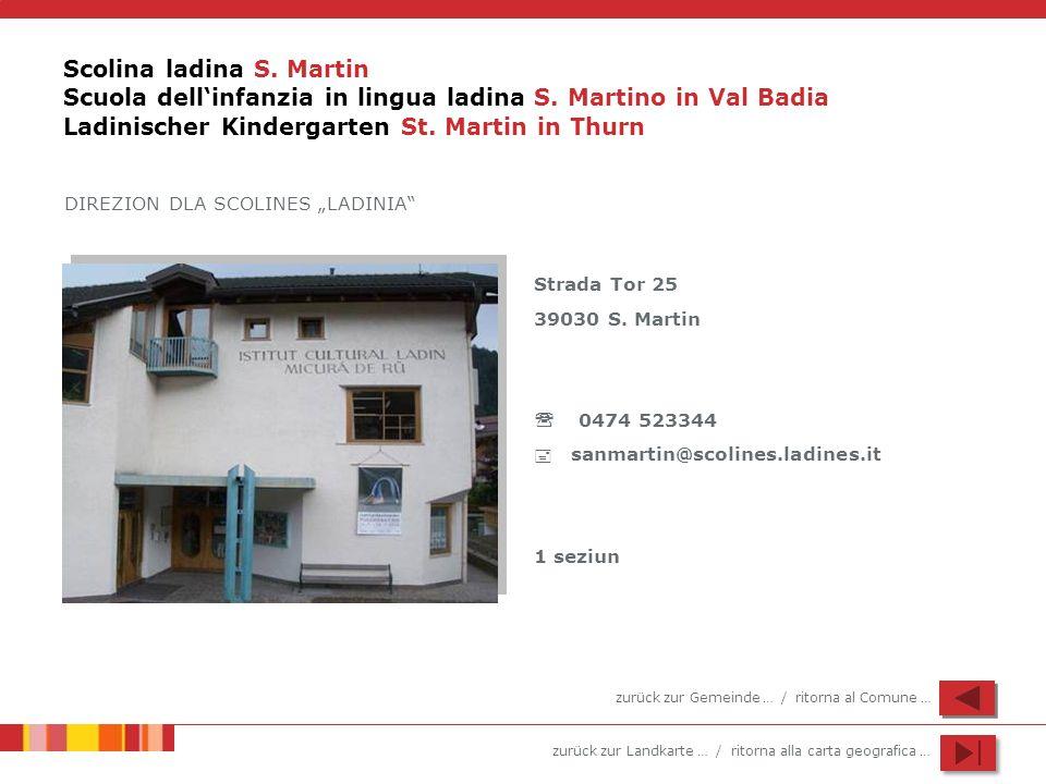 Scolina ladina S. Martin Scuola dell'infanzia in lingua ladina S