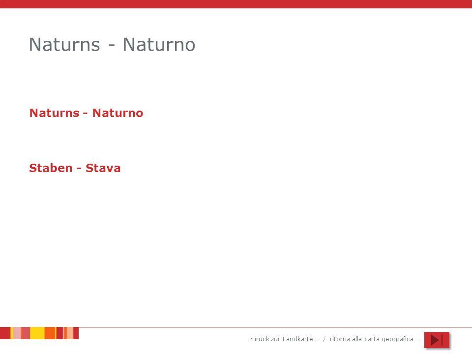 Naturns - Naturno Naturns - Naturno Staben - Stava