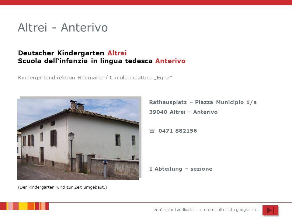 Altrei - AnterivoDeutscher Kindergarten Altrei Scuola dell'infanzia in lingua tedesca Anterivo.
