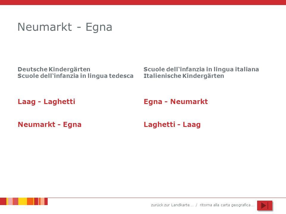 Neumarkt - Egna Laag - Laghetti Egna - Neumarkt Neumarkt - Egna