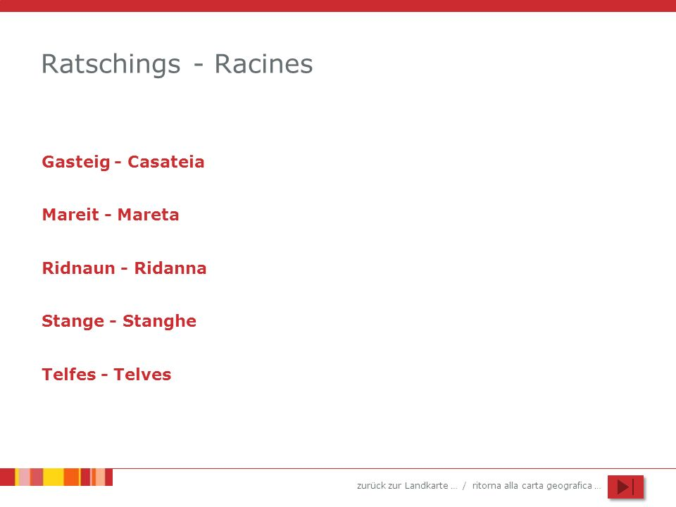 Ratschings - Racines Gasteig - Casateia Mareit - Mareta