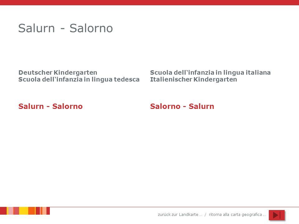 Salurn - Salorno Salurn - Salorno Salorno - Salurn