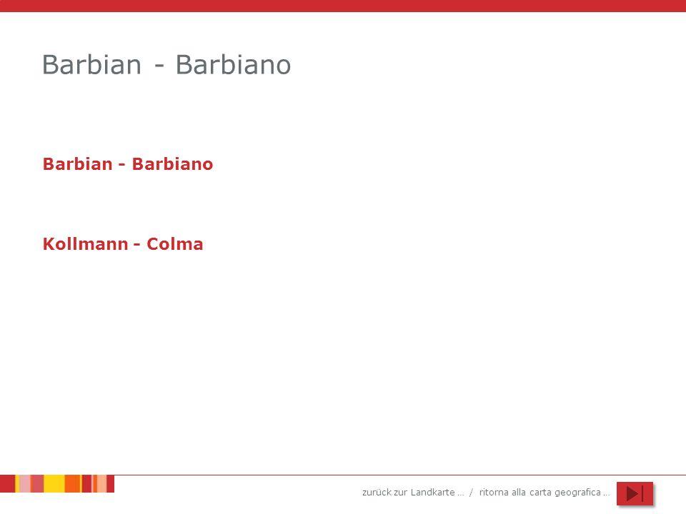 Barbian - Barbiano Barbian - Barbiano Kollmann - Colma