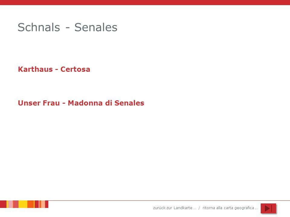 Schnals - Senales Karthaus - Certosa Unser Frau - Madonna di Senales