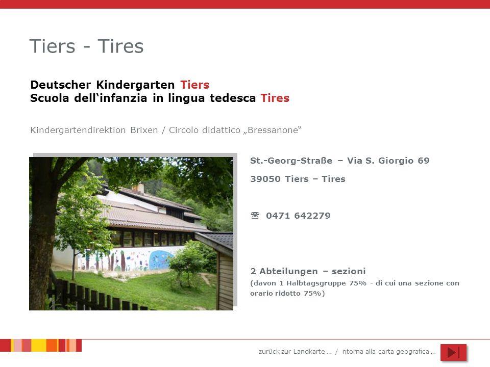 Tiers - TiresDeutscher Kindergarten Tiers Scuola dell'infanzia in lingua tedesca Tires.