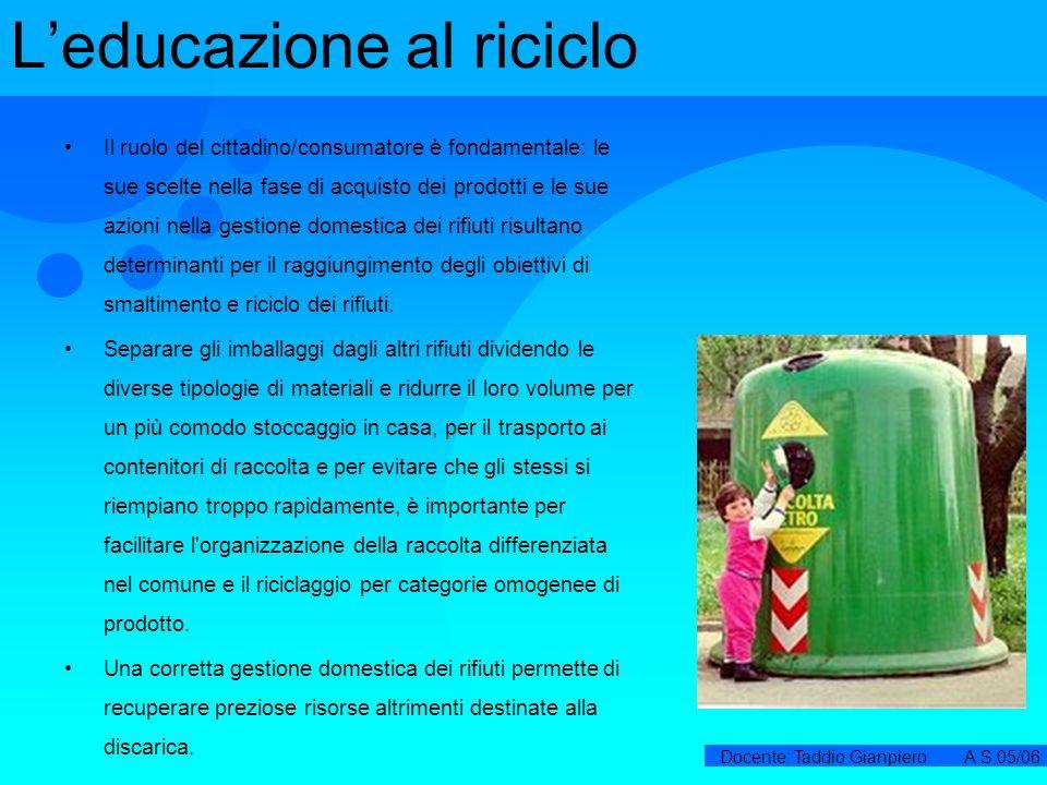 L'educazione al riciclo