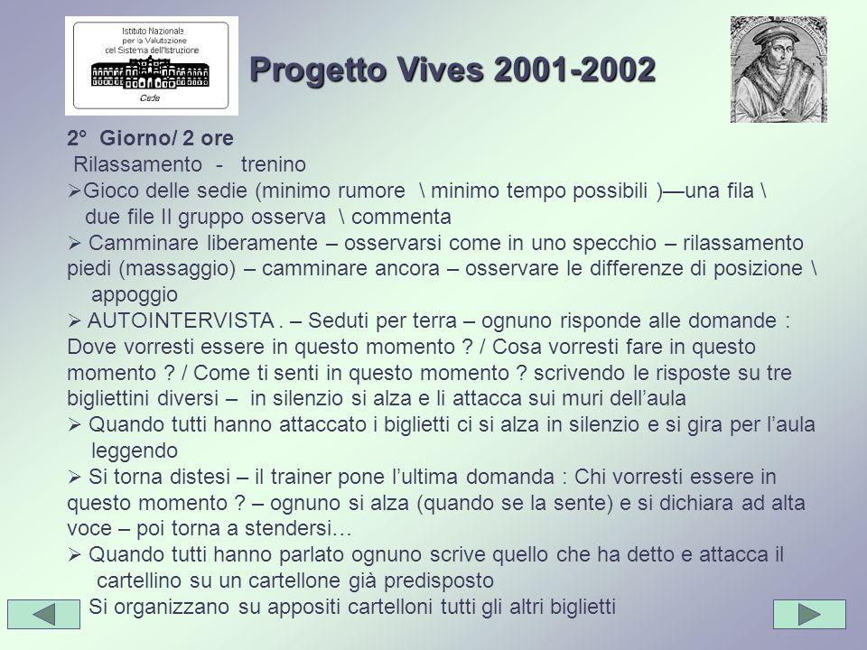 Progetto Vives 2001-2002 2° Giorno/ 2 ore Rilassamento - trenino