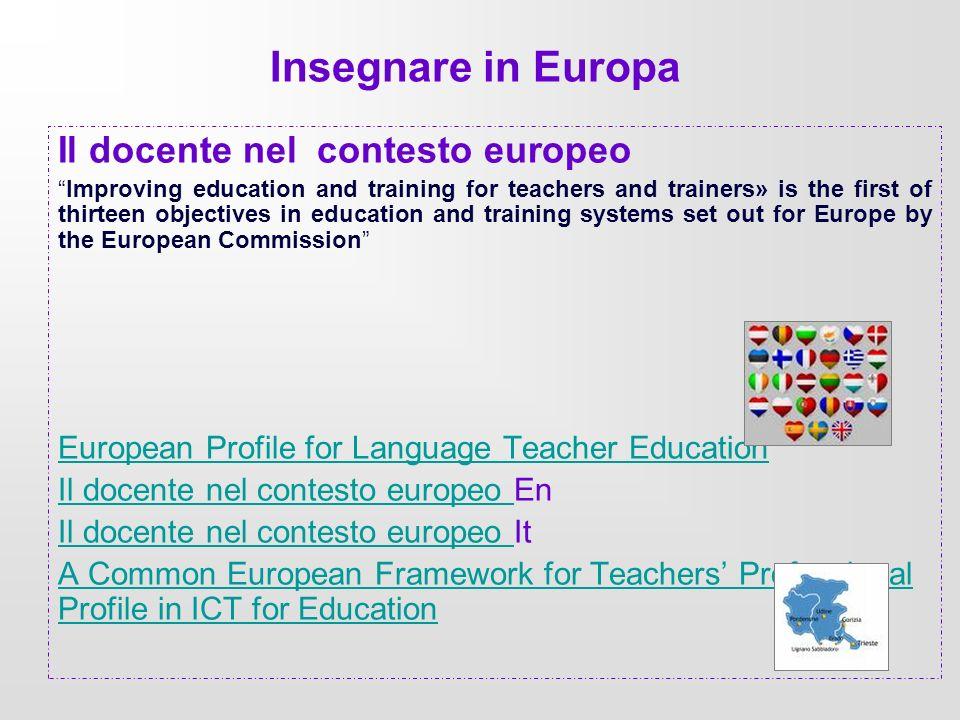 Insegnare in Europa Il docente nel contesto europeo