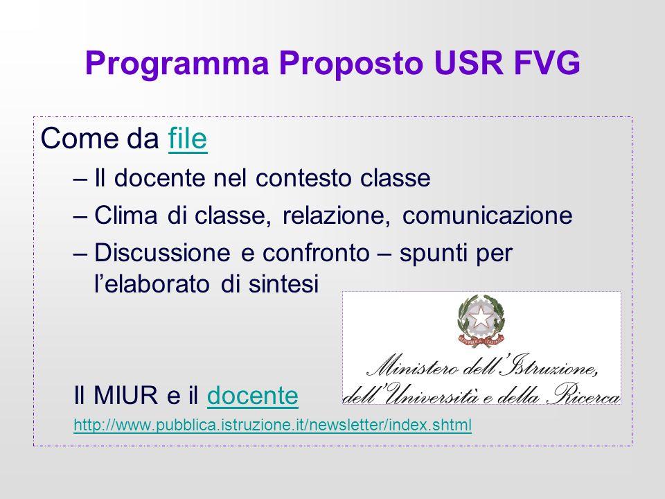 Programma Proposto USR FVG