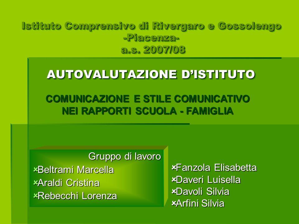 Gruppo di lavoro Beltrami Marcella Araldi Cristina Rebecchi Lorenza