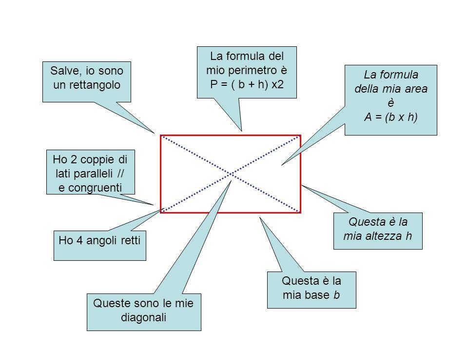 La formula del mio perimetro è P = ( b + h) x2