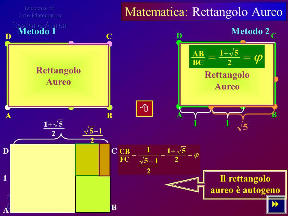 Matematica: Rettangolo Aureo