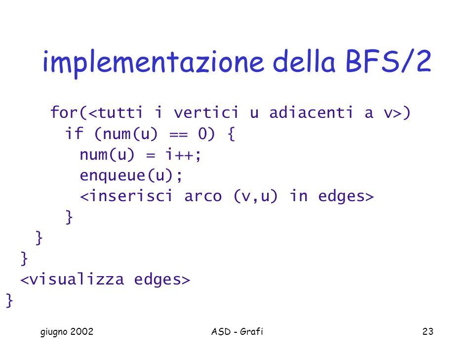 implementazione della BFS/2