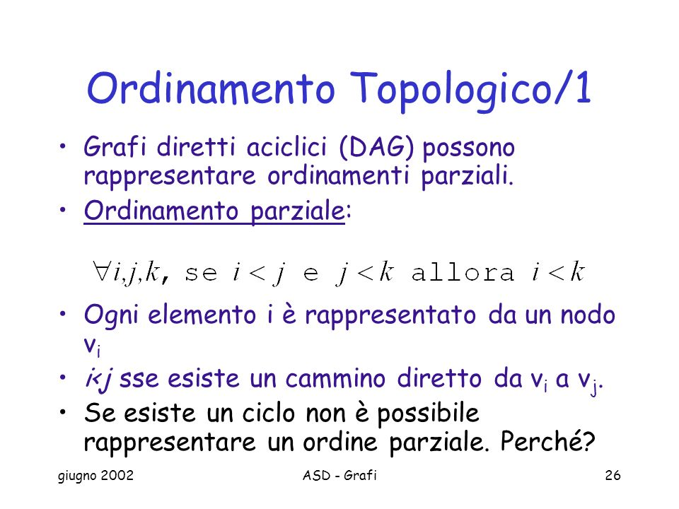 Ordinamento Topologico/1