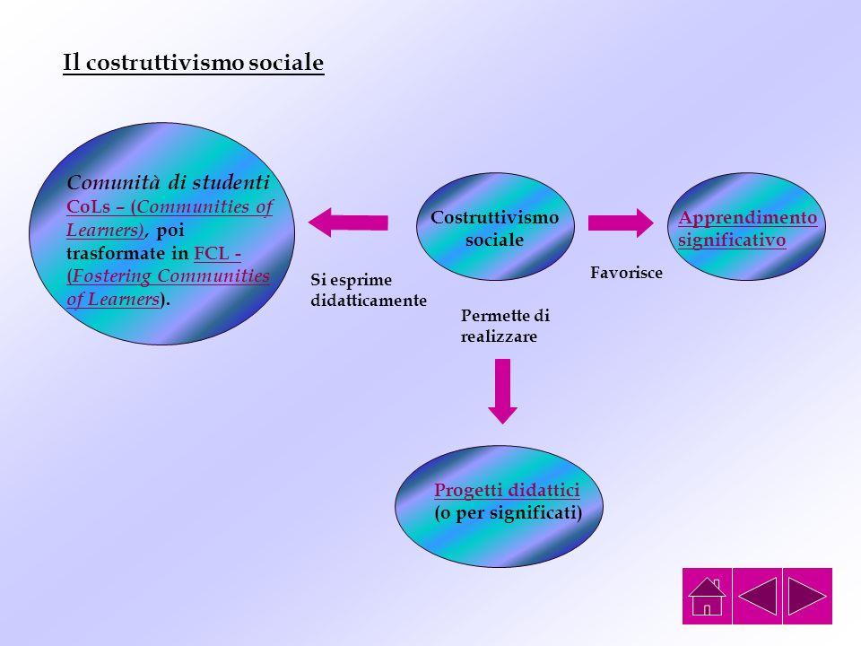Il costruttivismo sociale Costruttivismo sociale