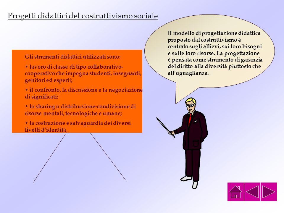 Progetti didattici del costruttivismo sociale
