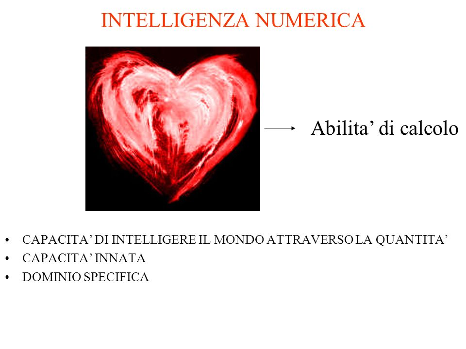 INTELLIGENZA NUMERICA