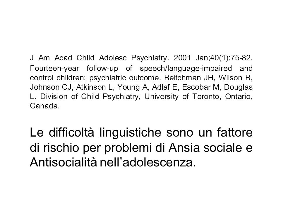 J Am Acad Child Adolesc Psychiatry. 2001 Jan;40(1):75-82