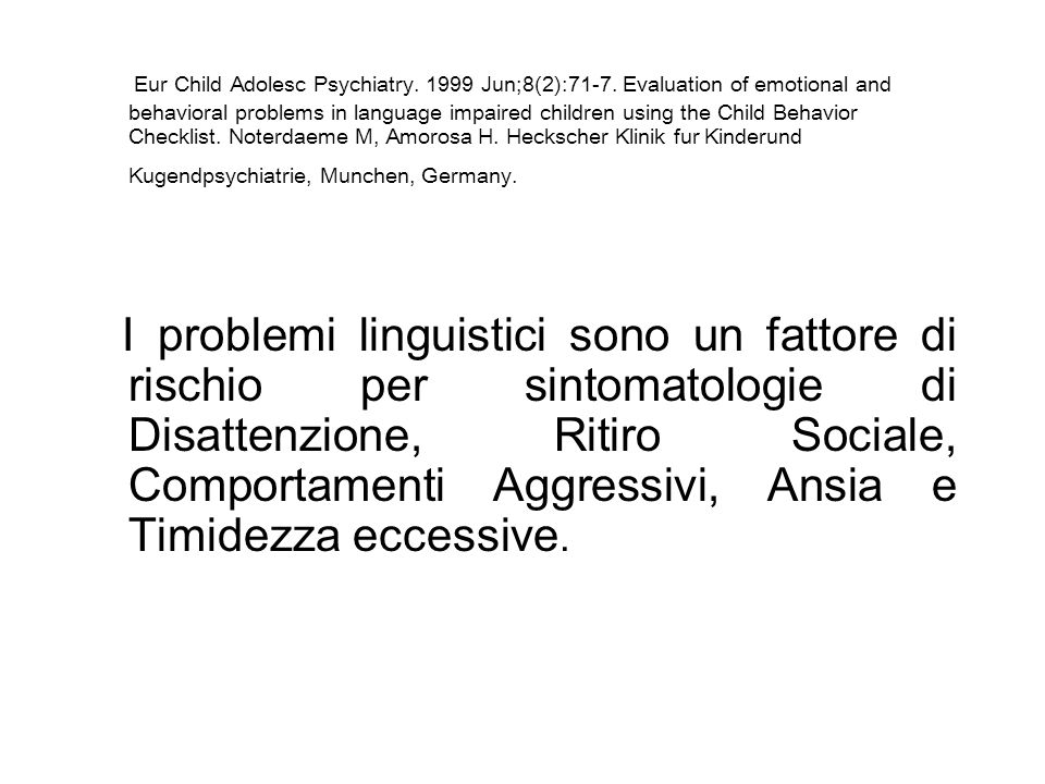 Eur Child Adolesc Psychiatry. 1999 Jun;8(2):71-7