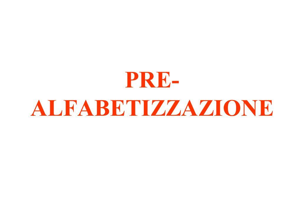 PRE-ALFABETIZZAZIONE