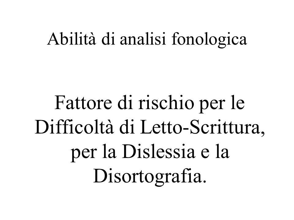 Abilità di analisi fonologica