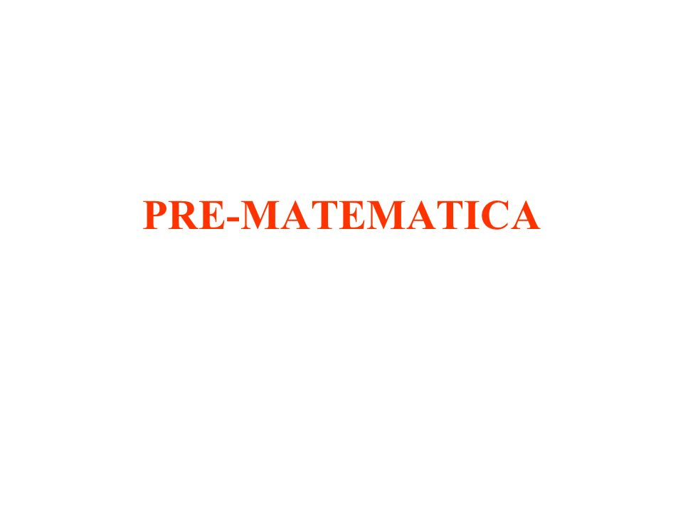 PRE-MATEMATICA