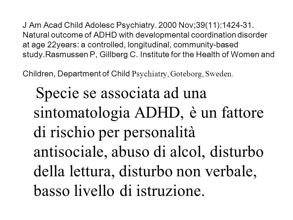 J Am Acad Child Adolesc Psychiatry. 2000 Nov;39(11):1424-31