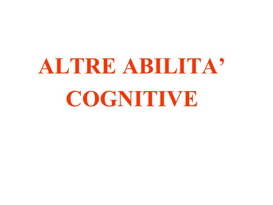ALTRE ABILITA' COGNITIVE