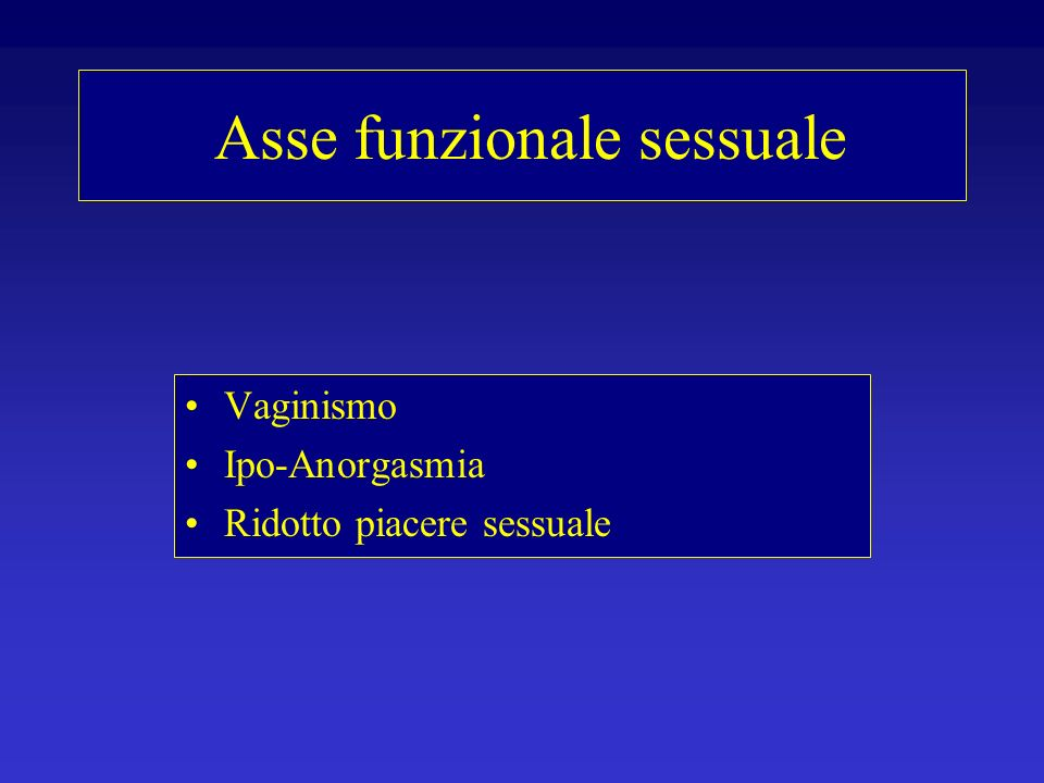 Asse funzionale sessuale