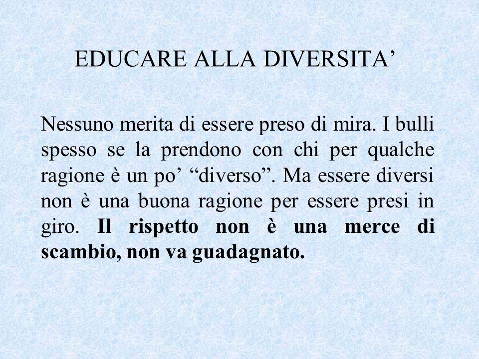 EDUCARE ALLA DIVERSITA'