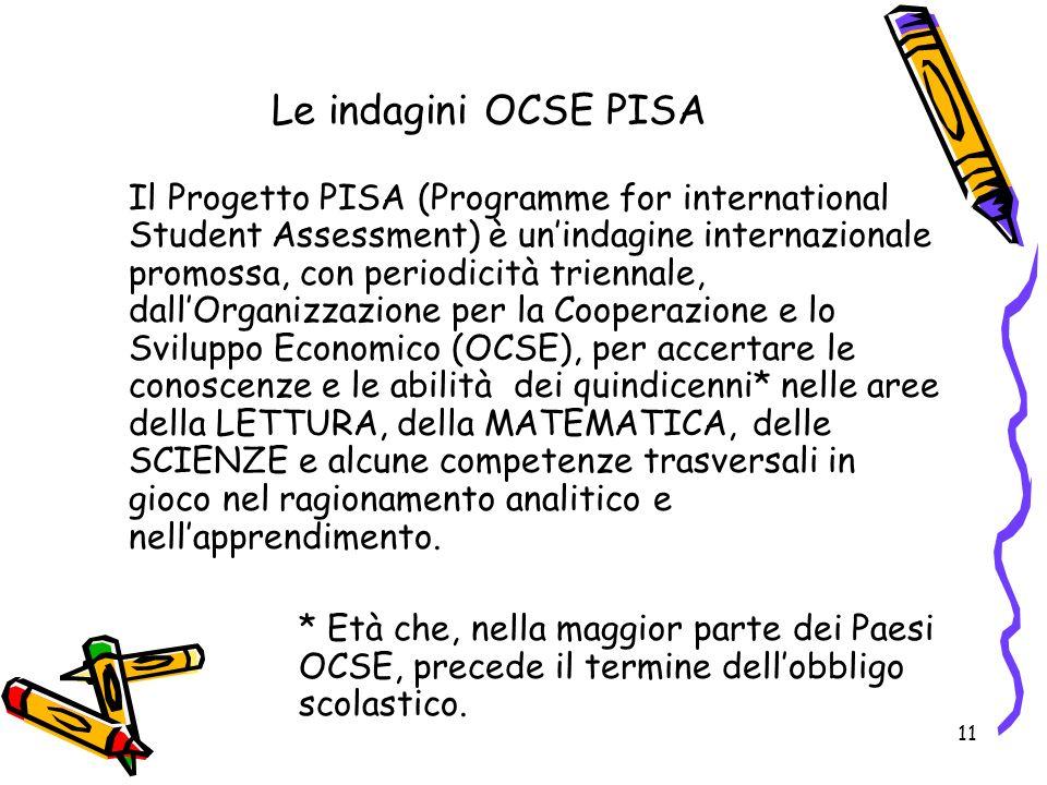 Le indagini OCSE PISA