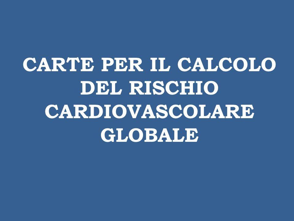 CARTE PER IL CALCOLO DEL RISCHIO CARDIOVASCOLARE GLOBALE