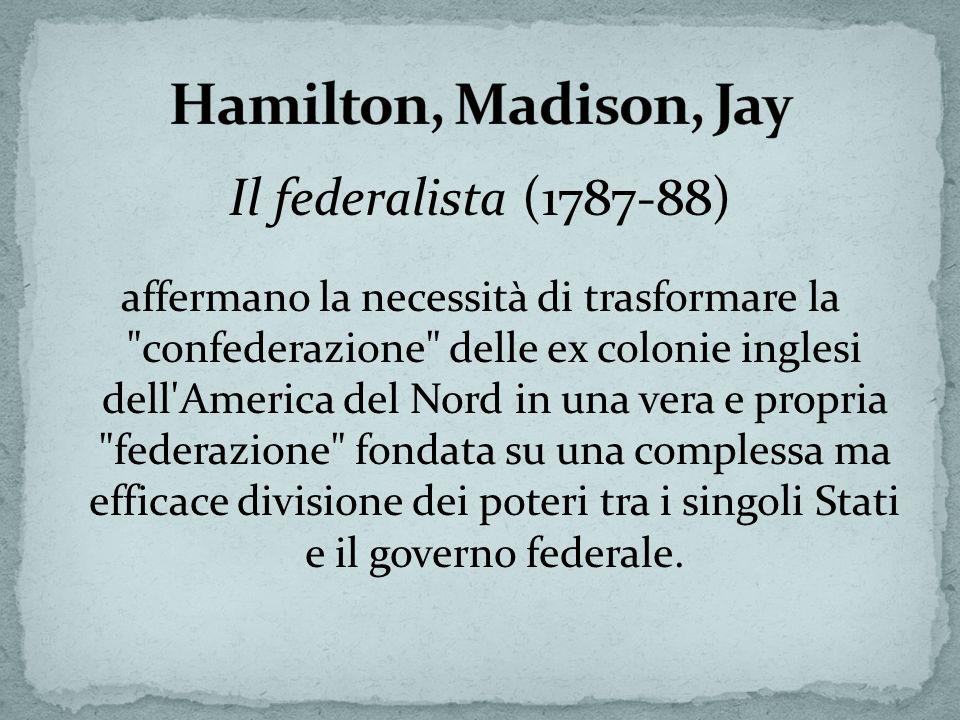Hamilton, Madison, Jay Il federalista (1787-88)