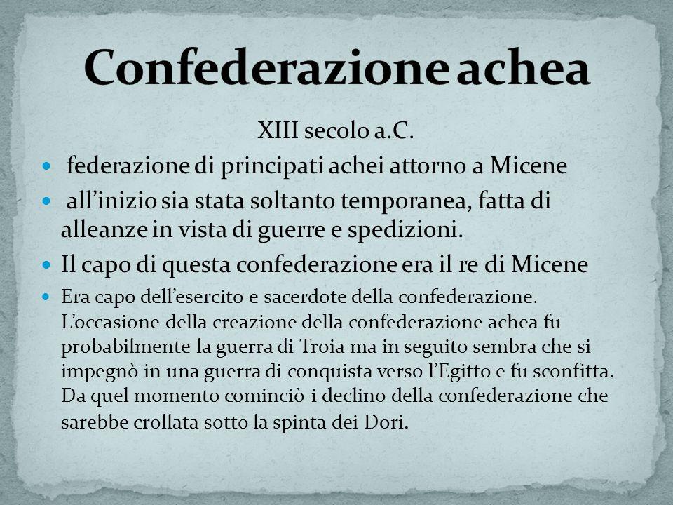 Confederazione achea XIII secolo a.C.