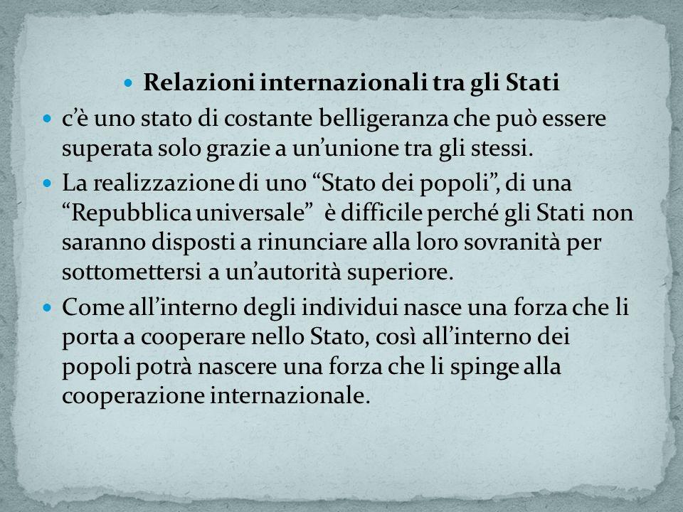 Relazioni internazionali tra gli Stati