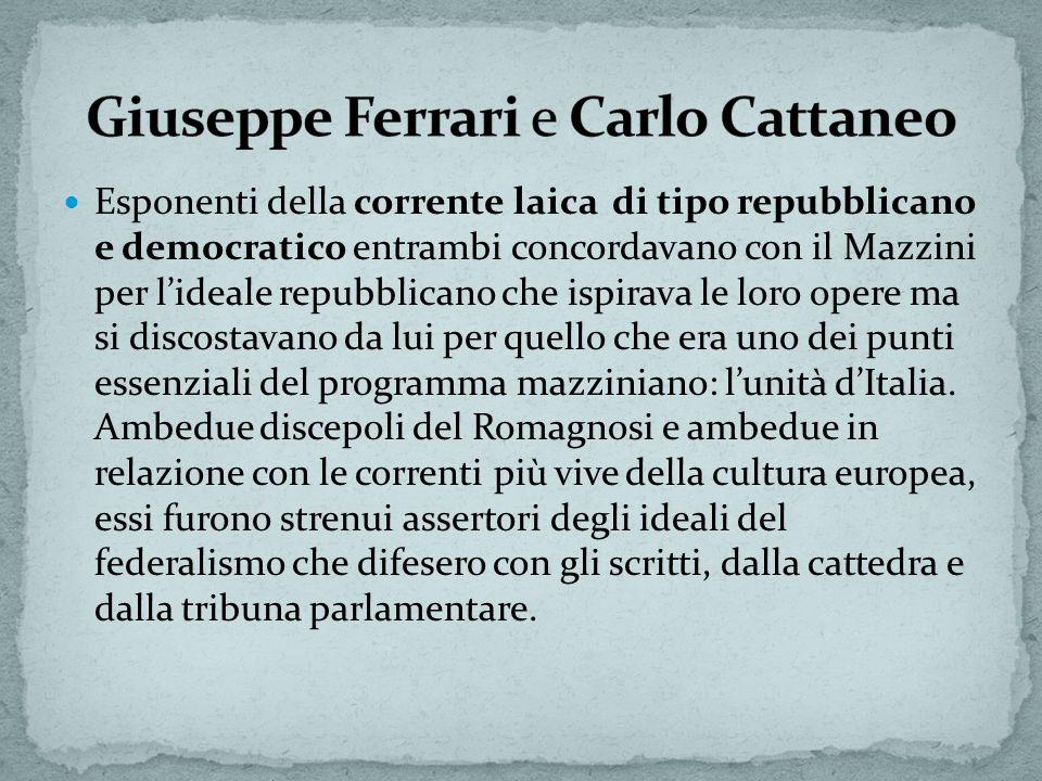 Giuseppe Ferrari e Carlo Cattaneo