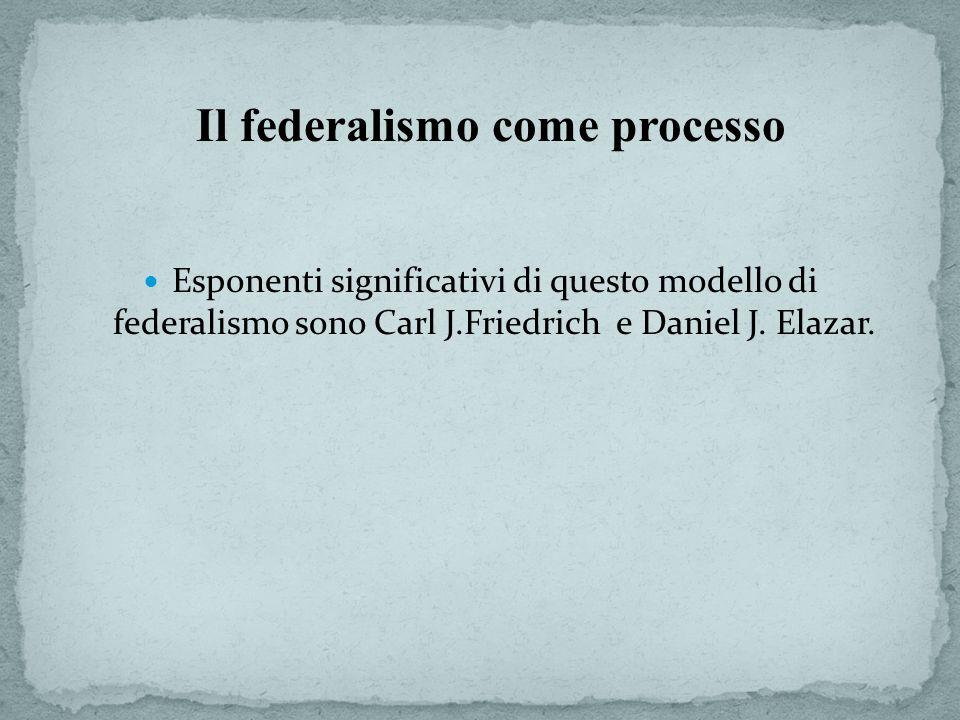 Il federalismo come processo